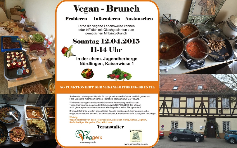 Flyer Veganer Brunch am 12.04.2015