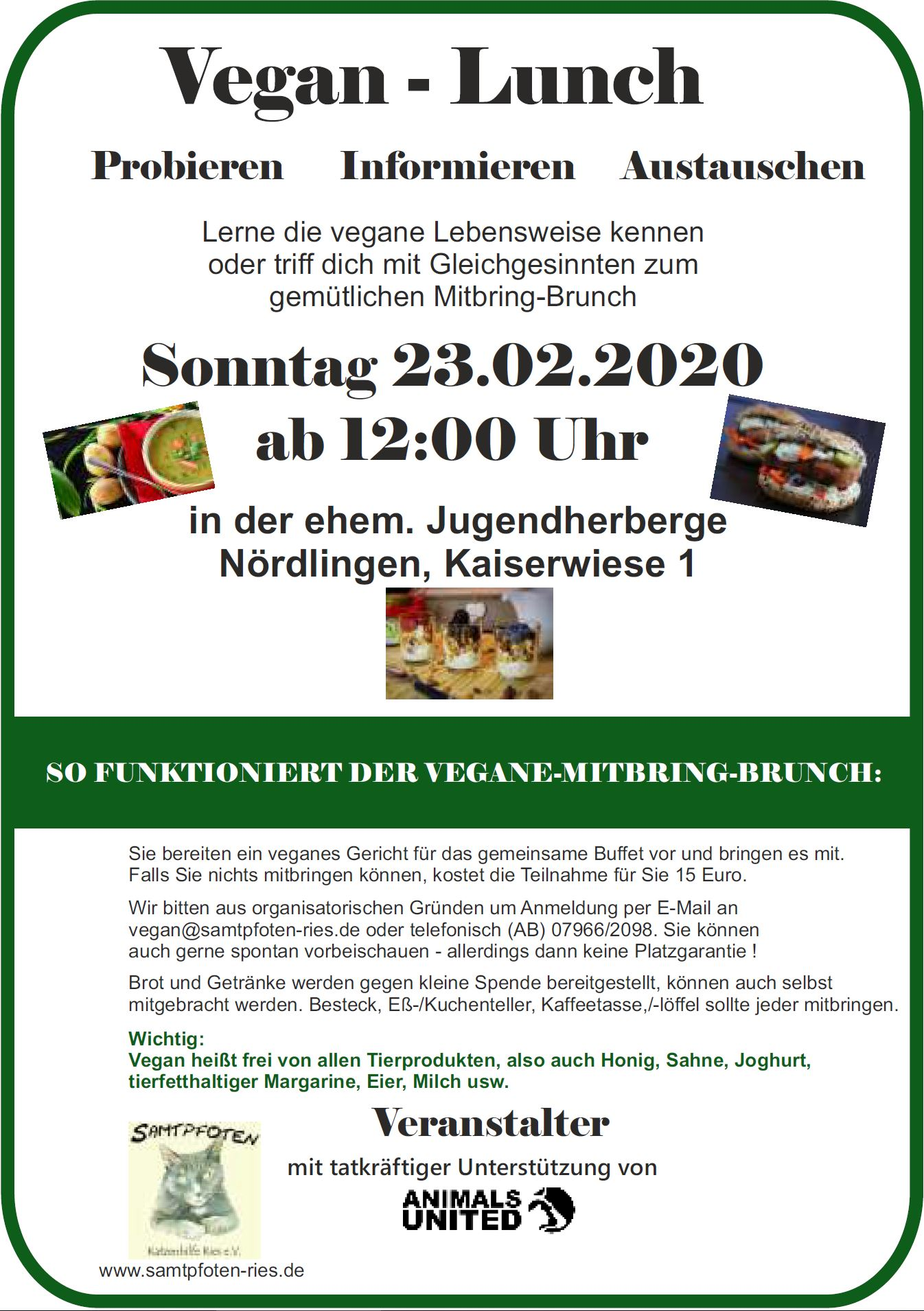 Vegan Lunch am 23.02.2020